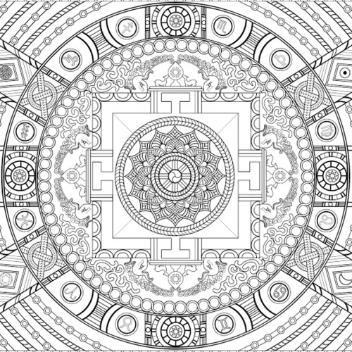 World of Mandalas, detail <br />