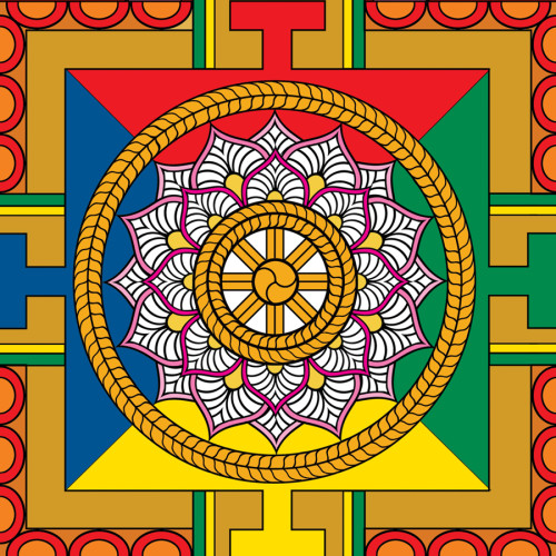 World of Mandalas 70 x 100 cm<br />