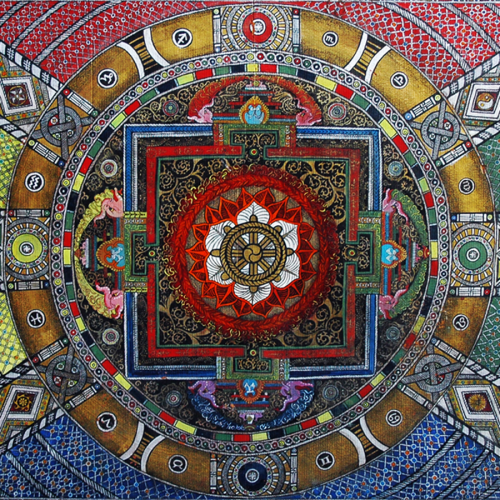 Mandala from the Szalag street, 2001 Mixed media, 108x148 cm