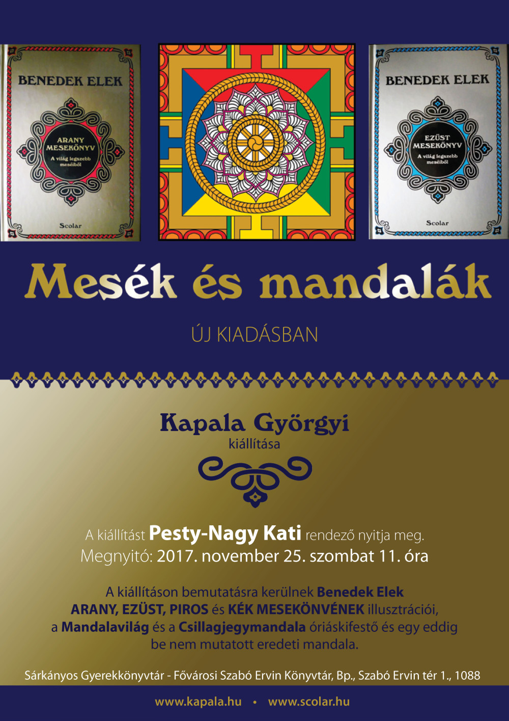 Fairy tales and mandalas – exhbition by Györgyi Kapala