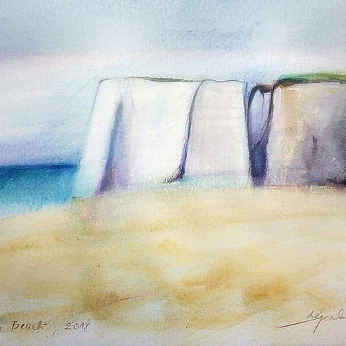 Botany Bay Beach - sketch, July, 2018<br />